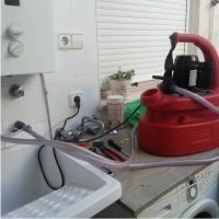 Limpieza de tuberías de agua caliente